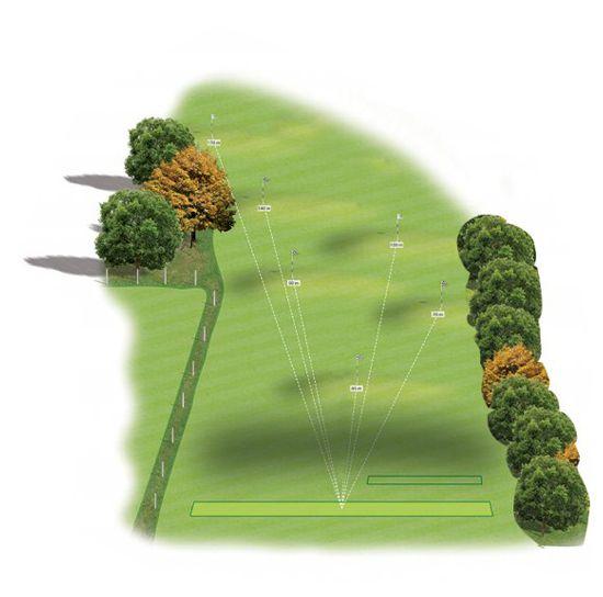 Zone D : Plateforme sur herbe